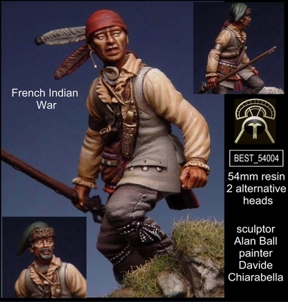 French Indian War - SET 2 54mm (1 figures - 2 heads alternative)