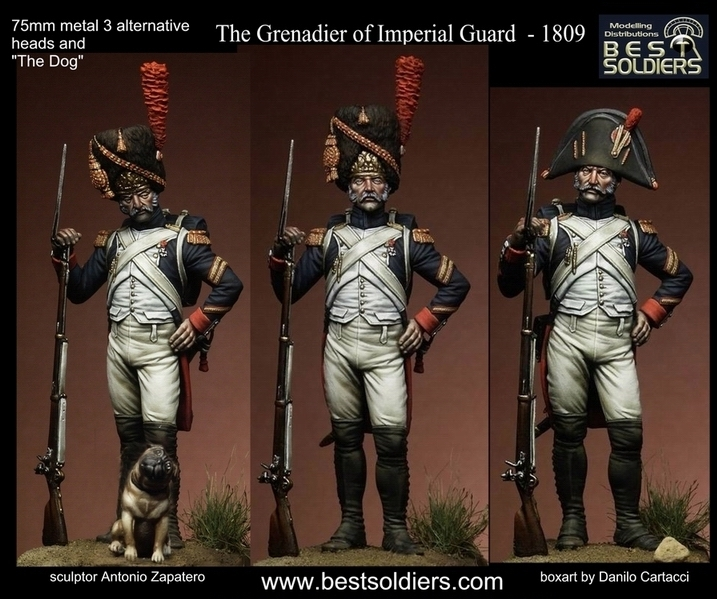The Grenadier of Imperial Guard  - 1809_3 version + dog