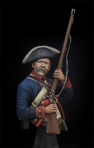 1/9th Bust American Continental Infantry 1778