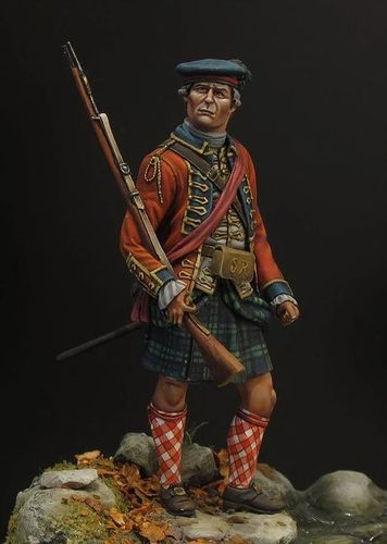 75mm 42nd Highland Officer 1760