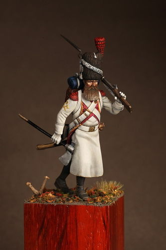 Sapper of the dutch grenadiers of the Guard 1812.