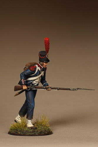 French light infantry carabinier. Battle of Marengo (1800)