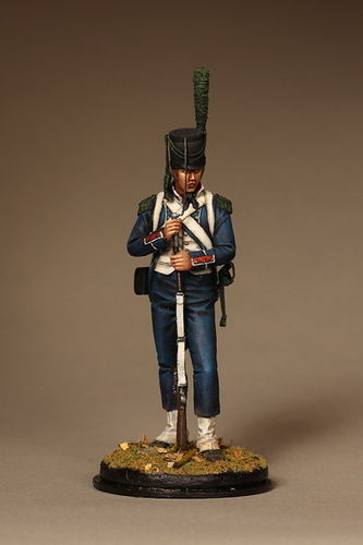 French light infantry chasseurs. Battle of Marengo (1800)