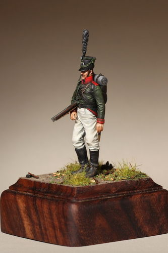 Private East Prussian Jaeger battalion 1808-1813 year.