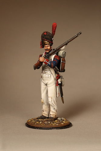 French grenadier line infantry. Battle of Wagram. 1809.
