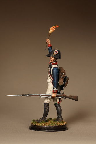 French fusilier line infantry. 1792—1797 years